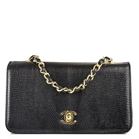 Karpet Mobil 5 In 1 Fashion Chanel chanel vintage classic flap shiny lizard bag in black world s best