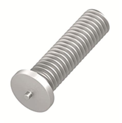 capacitor discharge welding aluminum metric flanged aluminum capacitor discharge weld studs on keystone fastening technologies obo
