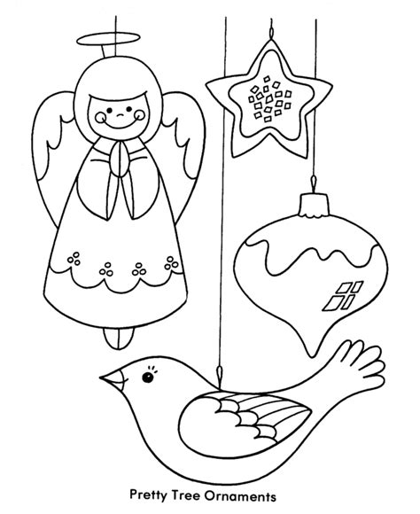 Christmas Tree Ornaments Coloring Pages Coloring Home Decoration Coloring Pages