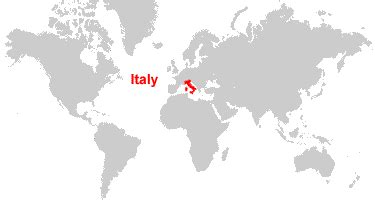 world map of italy italy map and satellite image