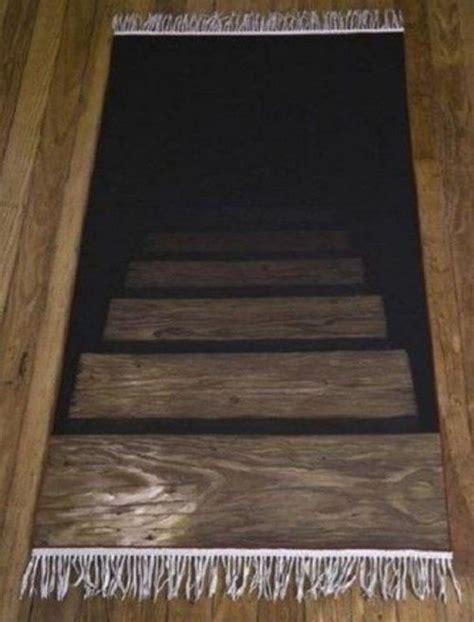 cellar stairs rug carpet basement stairs illusion things