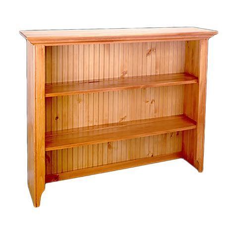 Pine Hutches Heirloom Pine Open Top Hutch Only Heirloom Pine Finish