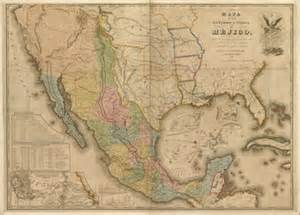 Mexico Old Map by North America Antique Rare Historical Maps Royalty Free