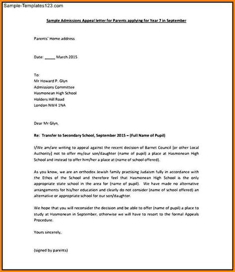 Appeal Letter Of Reconsideration 7 sle letter of appeal for reconsideration resumed
