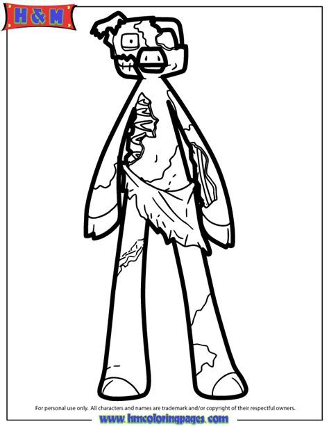 minecraft coloring pages zombie pigman www imgkid com