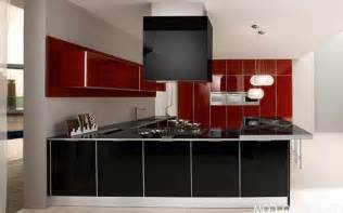 amazing Apartment Design For Small Spaces #7: inspiration-decoration-wondrous-red-and-black-gloss-acrylic-two-tone-kitchen-cabinets-as-decorate-modern-apartment-furniture-dec_apartment-table-top-kitchen-cabinet_apartment_studio-apartment-interior.jpg