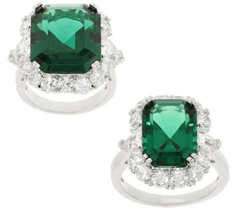 the elizabeth simulated emerald ring qvc