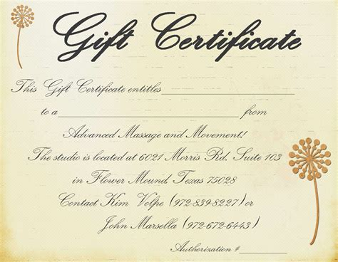 free gift certificate templates download free gift certificate