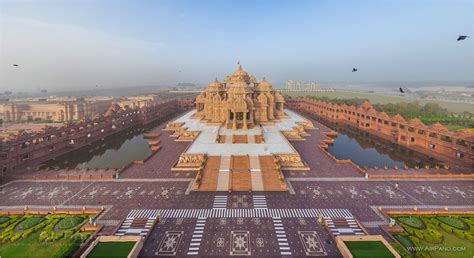 top 20 most beautiful temples in india swaminarayan akshardham delhi india 360 176 aerial