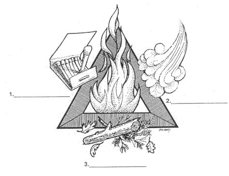 quot the fire triangle quot student worksheet