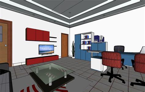 layout ruang manager 3d inspirasi interior kantor rg metting rg sekretaris