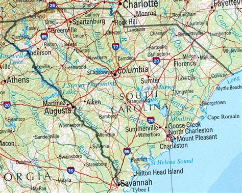 south carolina map south carolina