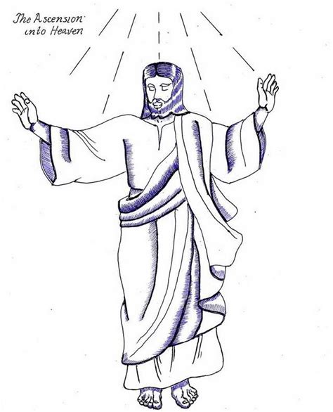 coloring page for jesus ascension ascension of jesus christ coloring pages family holiday