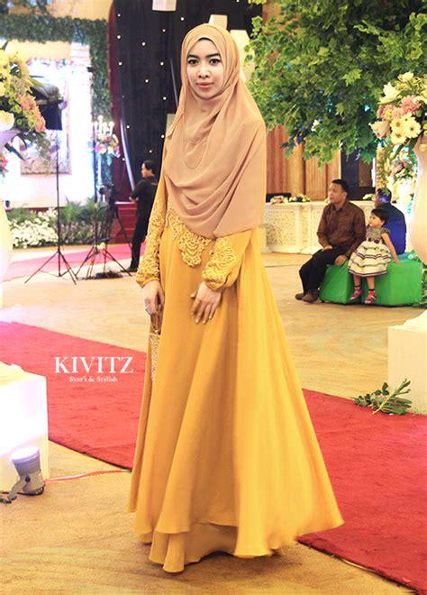 Dress Cokelat Kuning kivitz bridesmaid dress for puput s wedding