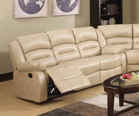 cream sectional leather sofa 9173 9243 reclining sectional sofa in cream bonded leather