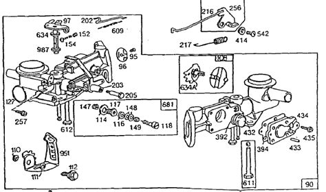 briggs and stratton 6 hp carburetor diagram 5hp briggs and stratton