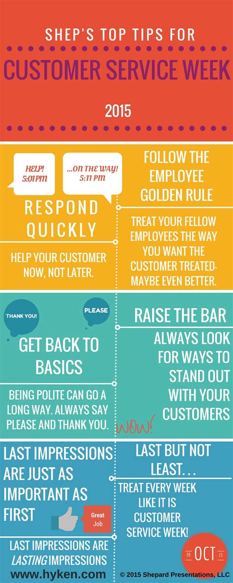 service tips top tips for customer service week infographic customerthink