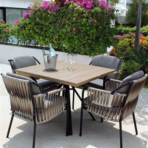 Skyline Outdoor Furniture by Skyline Design Chatham 4 Seat Square Garden Dining Set
