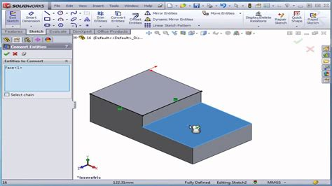 solidworks tutorial lesson 1 solidworks tutorial lesson 16 convert entities youtube