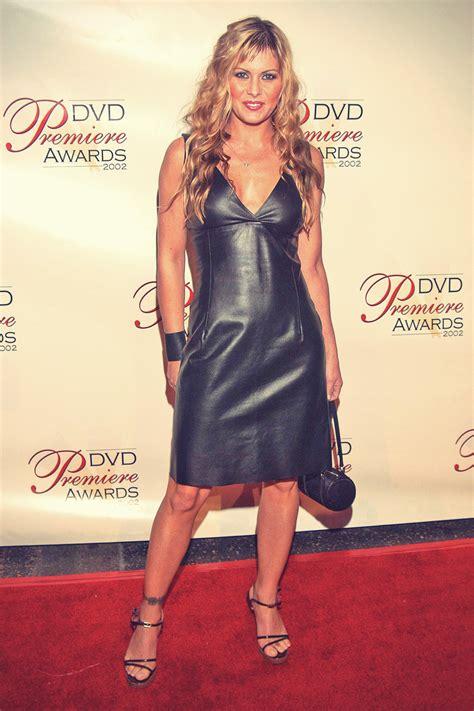 nicole eggert  leather dress leather celebrities