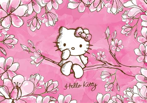 hello kitty wall wallpaper girl s room hello kitty wall murals homewallmurals co uk