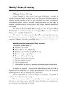 How To Type Up Minutes For A Meeting Template by Business Communication Write The Principles Of Writing