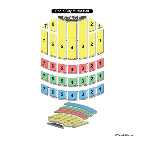 radio city seating plan radio city new york ny seating chart view