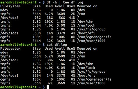 file format linux command how to save command output to a file in linux