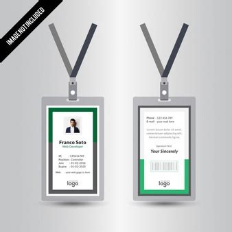 Id Card Template Freepik by Id Card Vectors Photos And Psd Files Free