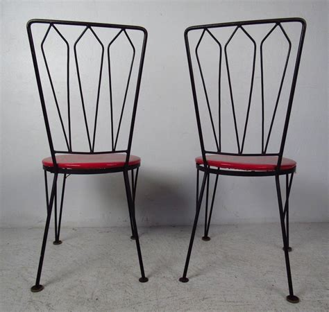 Metal Dining Chairs For Sale 1950s Metal Dining Chairs For Sale At 1stdibs