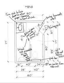 Ada Regulations For Bathrooms Ada Redesigning A Public Men S Bathroom Based On Ada