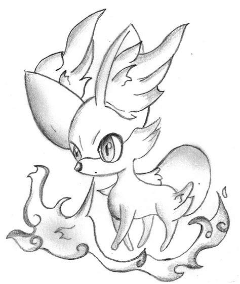 pokemon coloring pages fennekin pokemonx y fennekin by pokkiu on deviantart