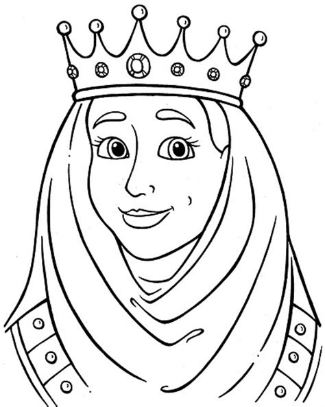 為孩子們的著色頁 queen free coloring pages