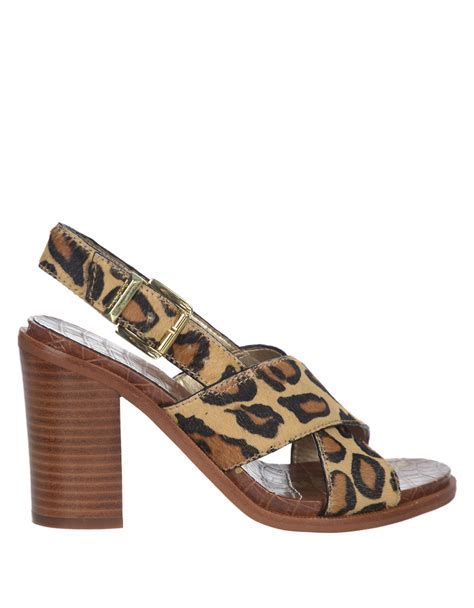 sam edelman leopard sandals lyst sam edelman high heel leopard printed sandals