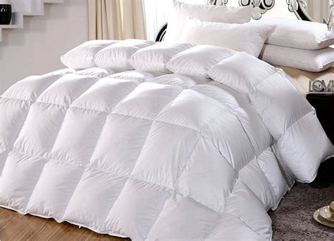 Feather Filled Comforter duvet filled white goose feather tog value 7 5 for