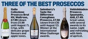 best value prosecco prosecco is out fizzing chagne daily mail