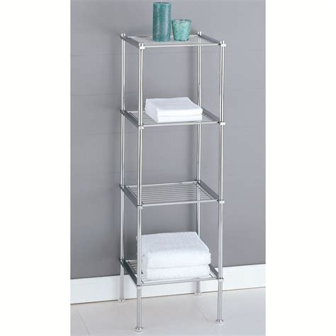 Metal Bathroom Shelf Rack Cosmecol Bathrooms Shelves