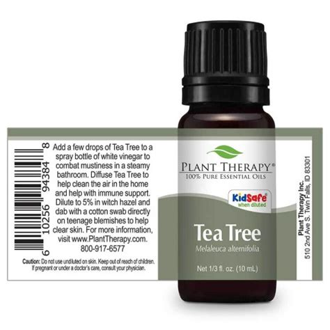 10 Ml Tea Tree Organic Essential 100 organic tea tree melaleuca essential 10 ml 1 3 oz