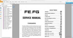 Mitsubishi Workshop Manuals Free Downloads Mitsubishi Fuso 1992 95 Fe Fg Service Manual Auto Repair
