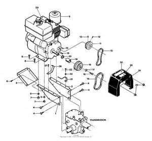 troy bilt 15010 econo 6hp opc s n 150100100101 up parts diagram for engine pulley belts