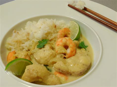 cuisiner la lotte au curry curry de lotte lait de coco
