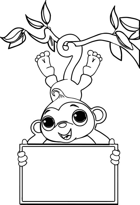 coloring pages of sock monkey zoo free sock monkey coloring page monkey coloring page free