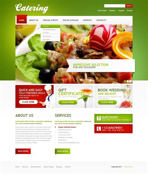 Templates For Catering Website | catering website template 33211