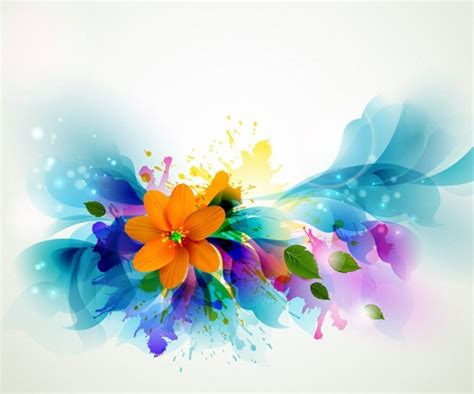 colored beautiful flowers design graphics vector flower flower vector all free flower vector art vector