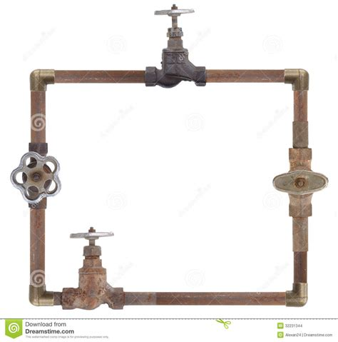 Copper Shower Curtain Frame From Water Pipes Stock Images Image 32231344
