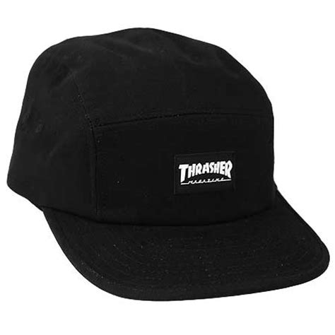 Topi Hat Hat Thrasher thrasher magazine logo 5 panel back hat in stock at spot skate shop