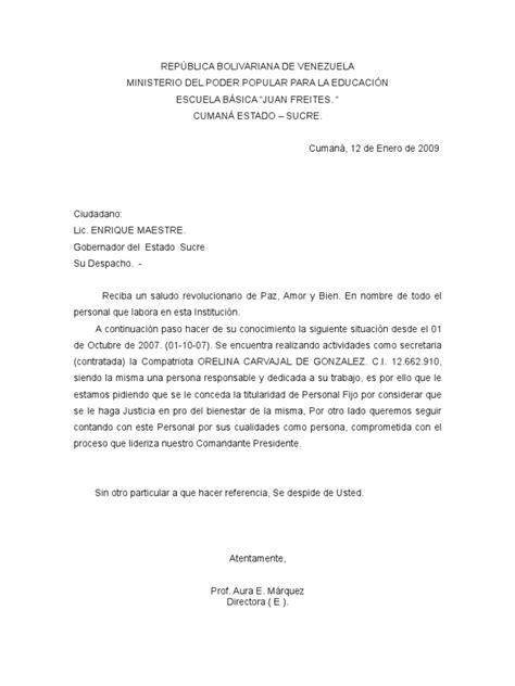 carta formal al gobernador carta dirigida al gobernador