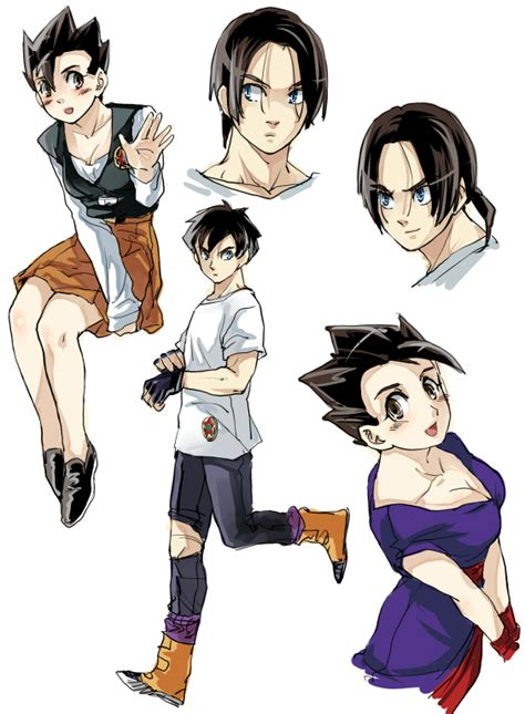 imagenes de goku version mujer female gohan and male videl by pinki100 on deviantart