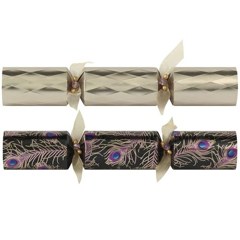 tom smith luxury christmas party crackers silver plated