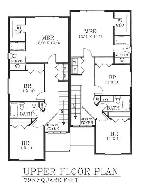 Multi Family Homes Floor Plans by Multi Family Plan 46191 Floors And Floor Plans
